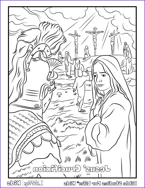 crucifixion coloring pages