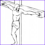 Crucifixion Coloring Pages Cool Image Jesus Christ The Cross Drawing At Getdrawings