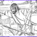 Crucifixion Coloring Pages Cool Images Jesus Crucifixion