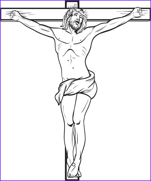 jesus christ crucified on the cross coloring page a4591