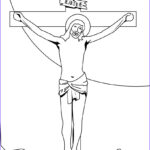 Crucifixion Coloring Pages Unique Image Jesus On The Cross Coloring Pages Hellokids