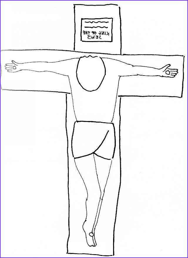 bible story coloring page for the crucifixion of the lord jesus