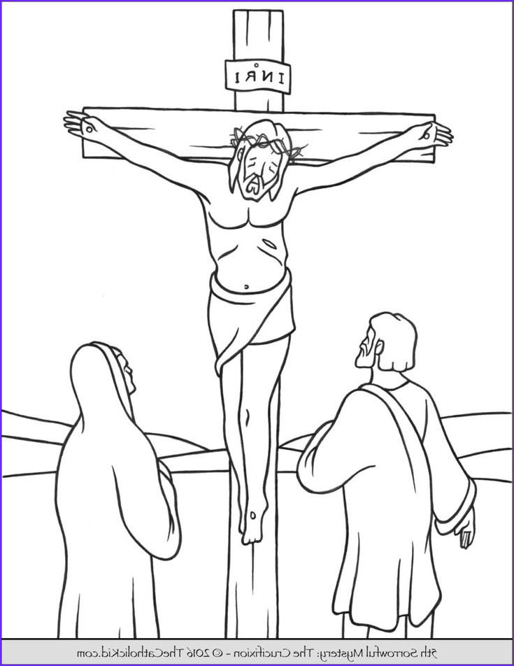 Crucifixion Coloring Pages Unique Photos sorrowful Mysteries Rosary Coloring Pages the
