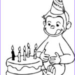 Curious George Coloring Pages Awesome Gallery Birthday Curious George