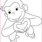 Curious George Coloring Pages Inspirational Collection Curious George Coloring Pages Curious George