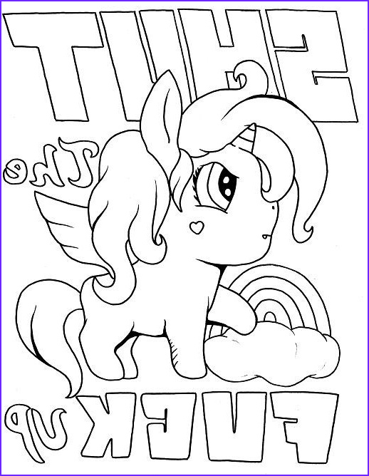 Cuss Word Coloring Pages Unique Image Unicorn Adult Coloring Page Swear 14 Free Printable