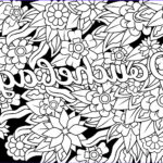 Cuss Words Coloring Pages Beautiful Photography Douchebag Swear Word Coloring Page Adult Coloring Page