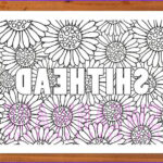 Cuss Words Coloring Pages Beautiful Photography Shithead Swear Word Coloring Page Printable Instant Download