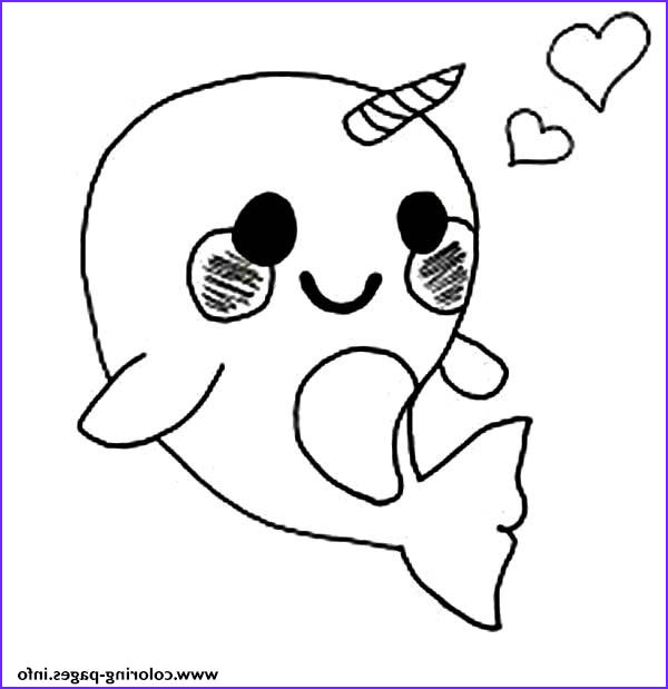 cute baby narwhal coloring page printable coloring pages book 8303