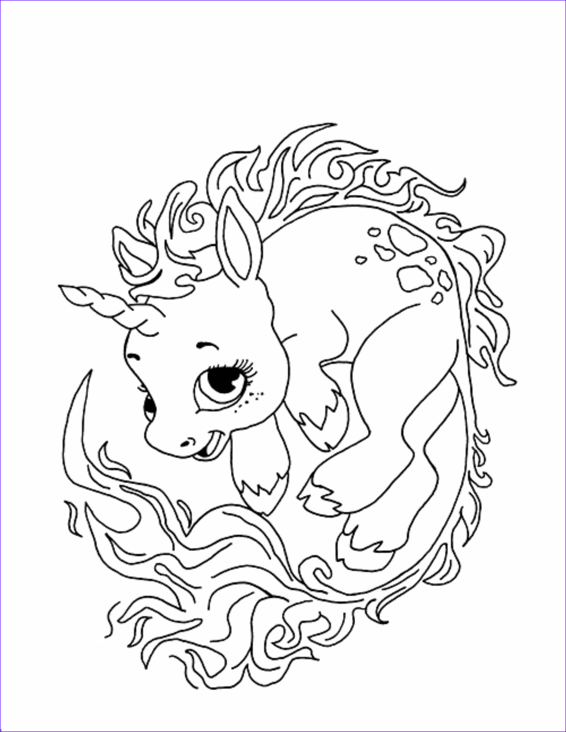 unicorn coloring pages children