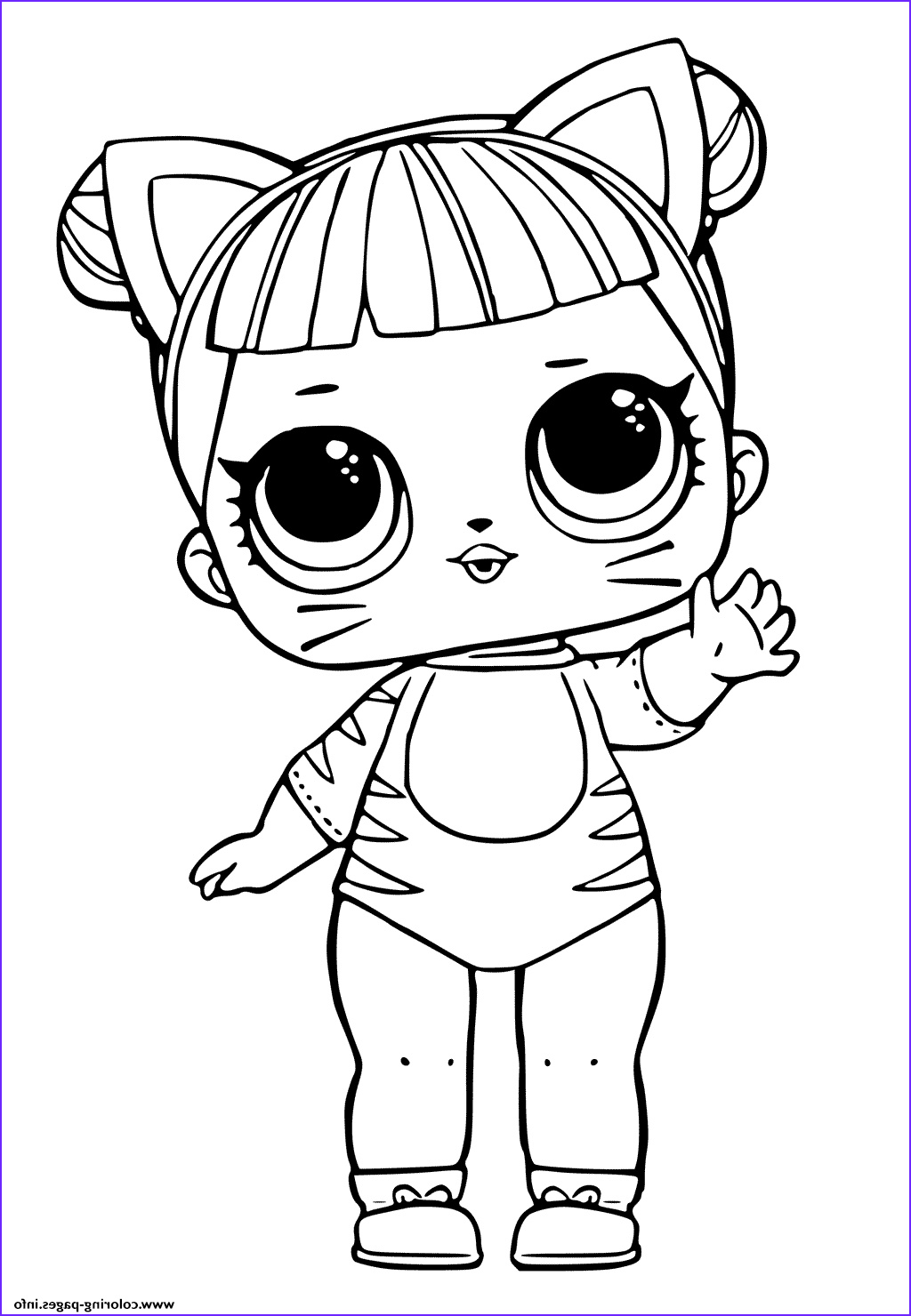 Cute Coloring Pages Beautiful Gallery Print Lol Doll Tiger Cat Cute Coloring Pages