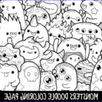 Cute Coloring Pages Elegant Image Monsters Doodle Coloring Page Printable Cute Kawaii Coloring