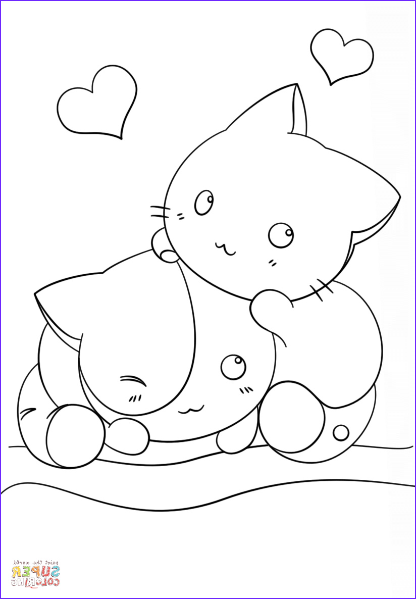 Cute Coloring Pages Elegant Photos Coloring Pages Cute Kawaii Animals Coloring Home