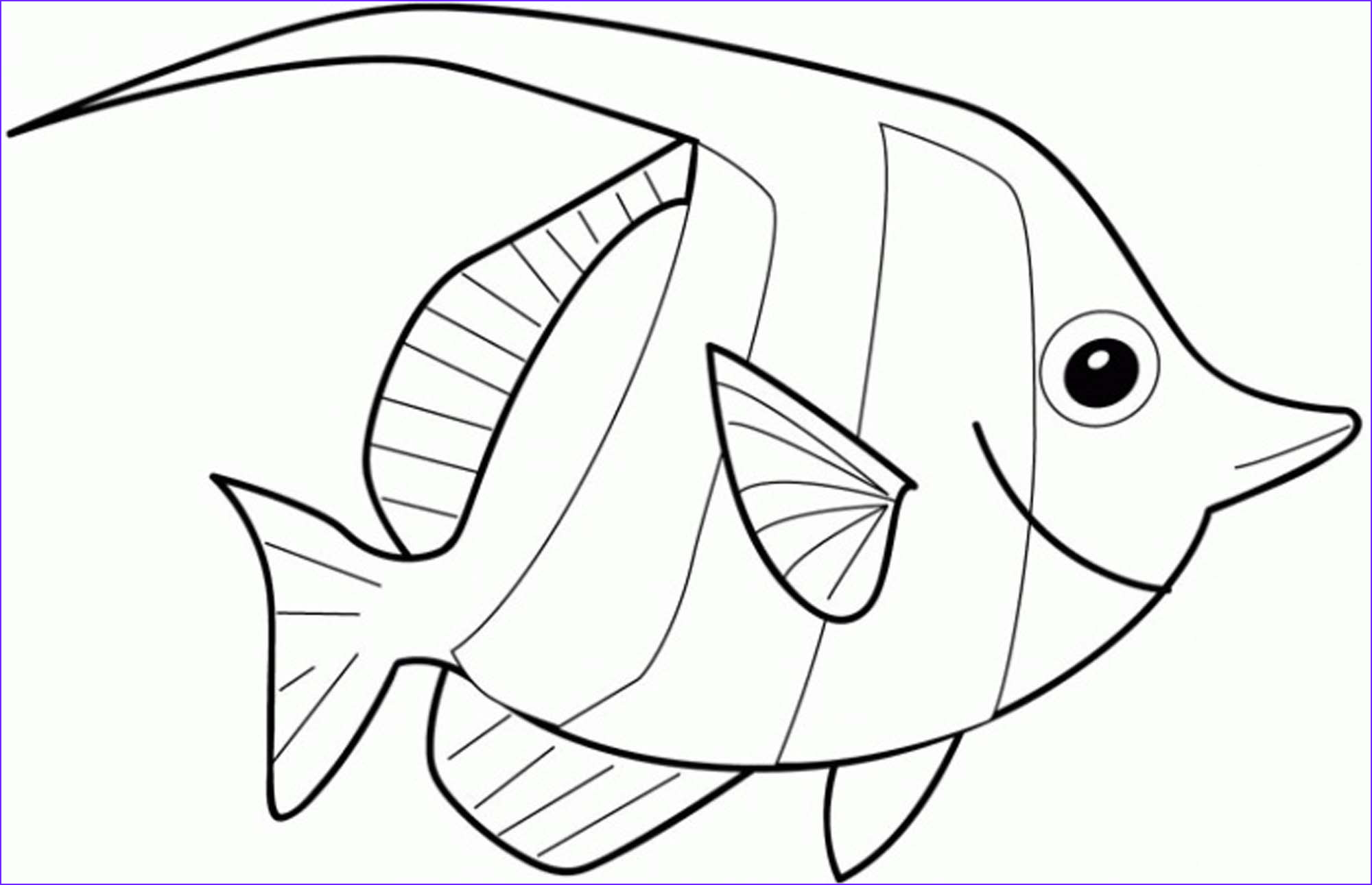 cute educative fish coloring pages