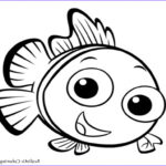 Cute Fish Coloring Pages Beautiful Images Nemo Fish Coloring Pages