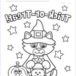 Cute Halloween Coloring Pages Elegant Gallery Cute Cat Witch Halloween Coloring Page