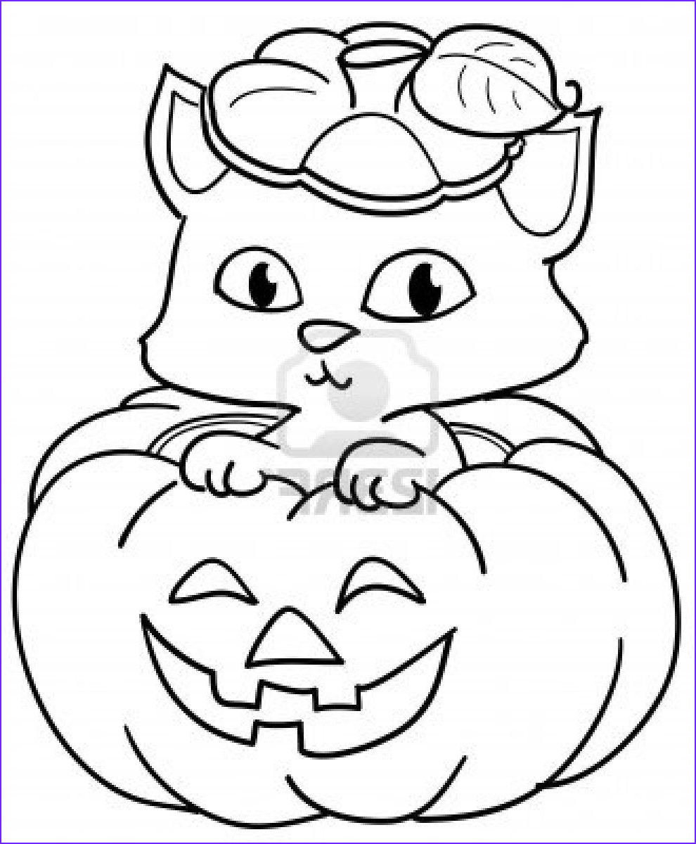 Cute Halloween Coloring Pages for Kids Beautiful Images Cute Halloween Pumpkin Coloring Pages