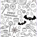 Cute Halloween Coloring Pages New Image Halloween Coloring Page With Cute Candy
