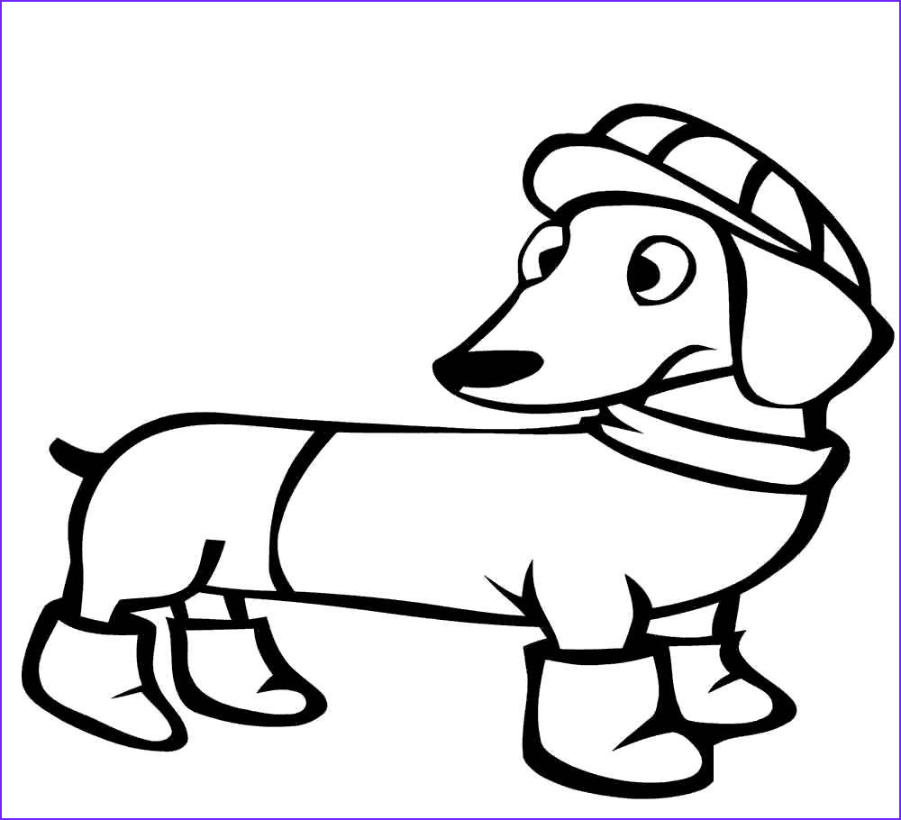 dachshund coloring pages clipart