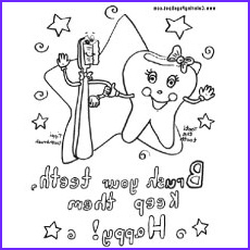 dental coloring pages for your toddler