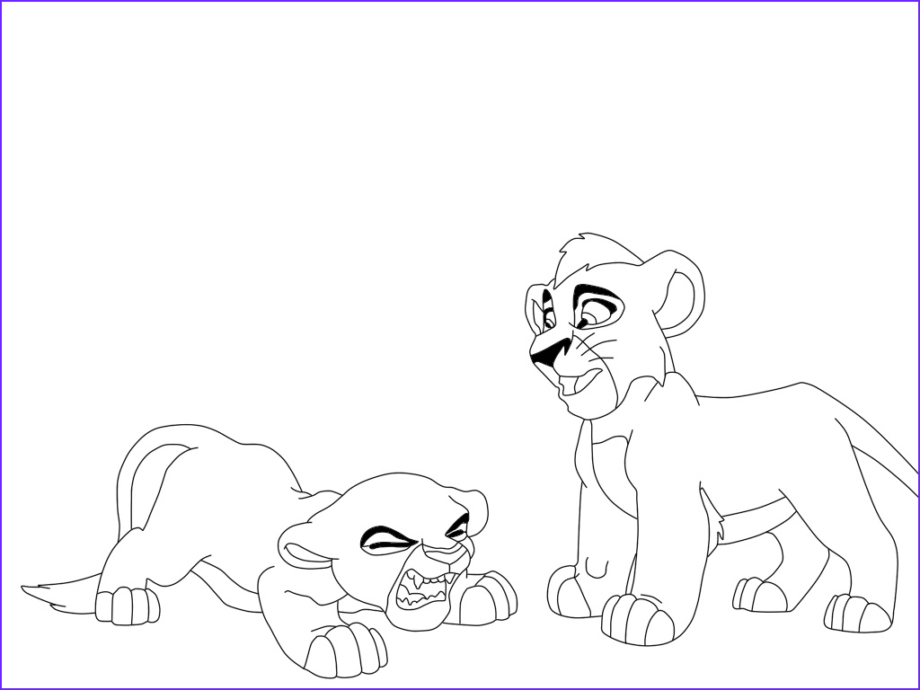 luxury lion king 2 kovu coloring pages