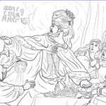 Daniel And The Lions Den Coloring Pages New Photos 4 King Belshazzar And The Writing The Wall Coloring Page
