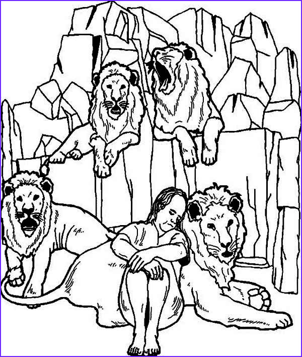 daniel is sleeping in daniel and the lions den coloring page