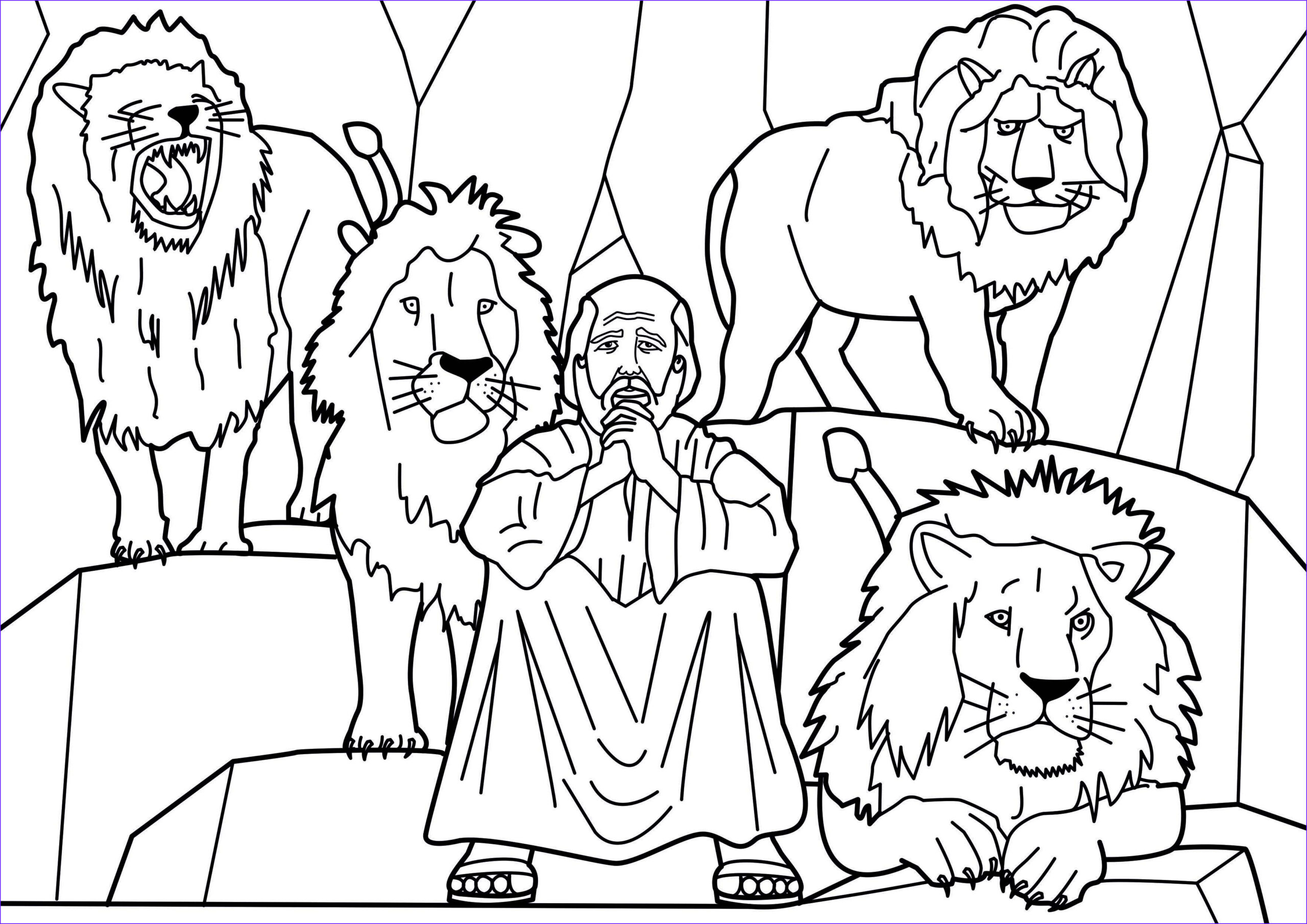 Daniel and the Lions Den Coloring Sheet Cool Photos Cain and Abel Bible Coloring Pages and Coloring On Pinterest