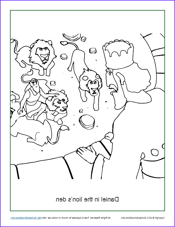 daniel in the lions den coloring page