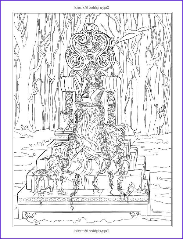 Dark Coloring Pages Beautiful Collection Gothic Dark Fantasy Coloring Book Fantasy Art Coloring