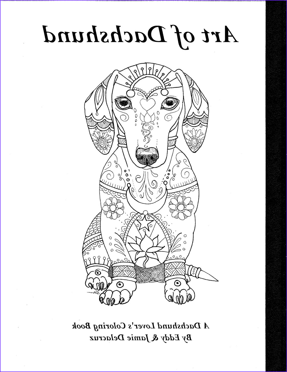 art of dachshund coloring book volume no