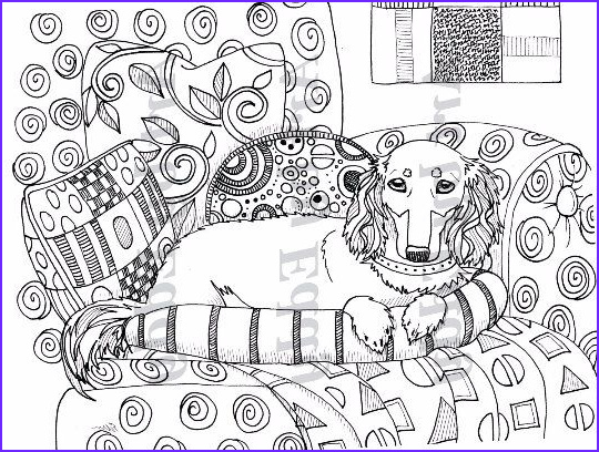Daschund Coloring Book Luxury Image Art Of Dachshund Coloring Book Volume No 2 by Artbyeddy On