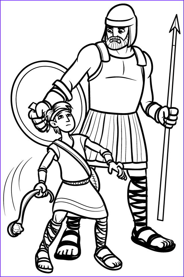 David and Goliath Coloring Sheet Beautiful Images Pinning with Purpose Old Testament Quiet Book
