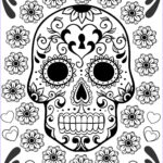 Day Of The Dead Coloring Pages Awesome Collection Free Printable Day Of The Dead Coloring Pages Best