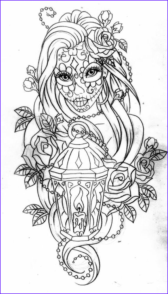 Day Of the Dead Coloring Pages Best Of Images Day Of the Dead Coloring Page