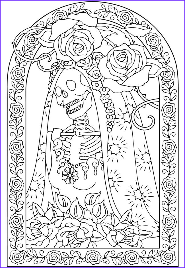 Day Of the Dead Coloring Pages Inspirational Stock Wel E to Dover Publications