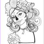 Day Of The Dead Coloring Pages New Photos Here Is One Of Three Day Of The Dead Coloring Pages For
