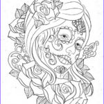 Day Of The Dead Coloring Pages Unique Images Day Of The Dead Coloring And Craft Activities Family