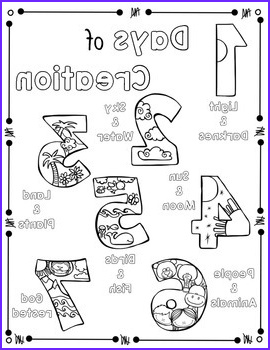 Days Of Creation Coloring Pages Beautiful Photos Days Of Creation Coloring Page and Handwriting Practice by