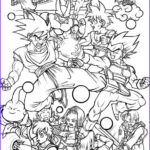 Dbz Coloring Beautiful Images All Characters In Dragon Ball Z Free Printable Coloring