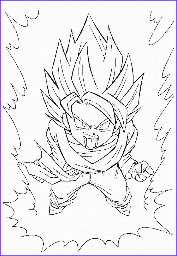 dbz coloring pages 2