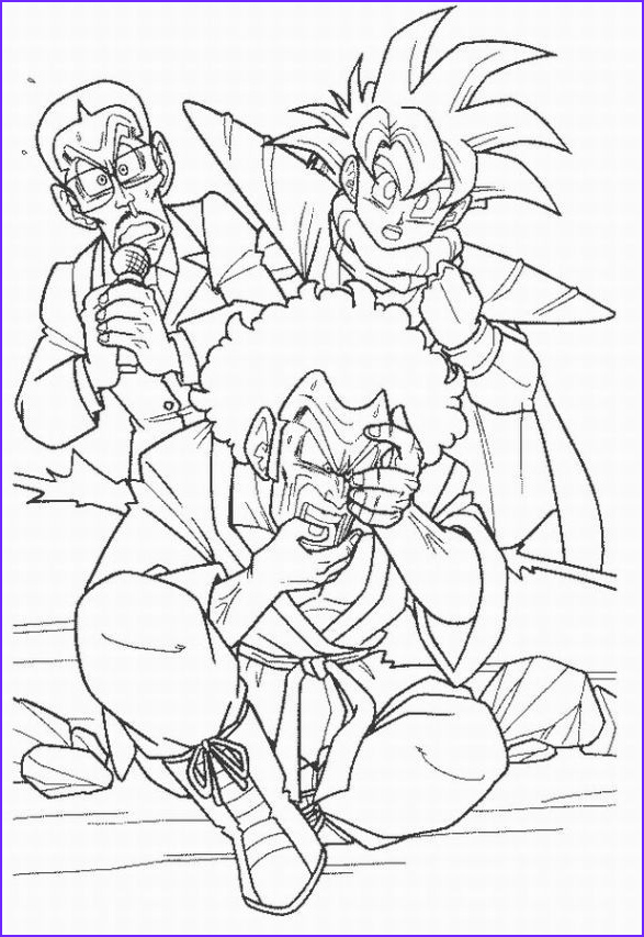 dragon ball z coloring pages boo
