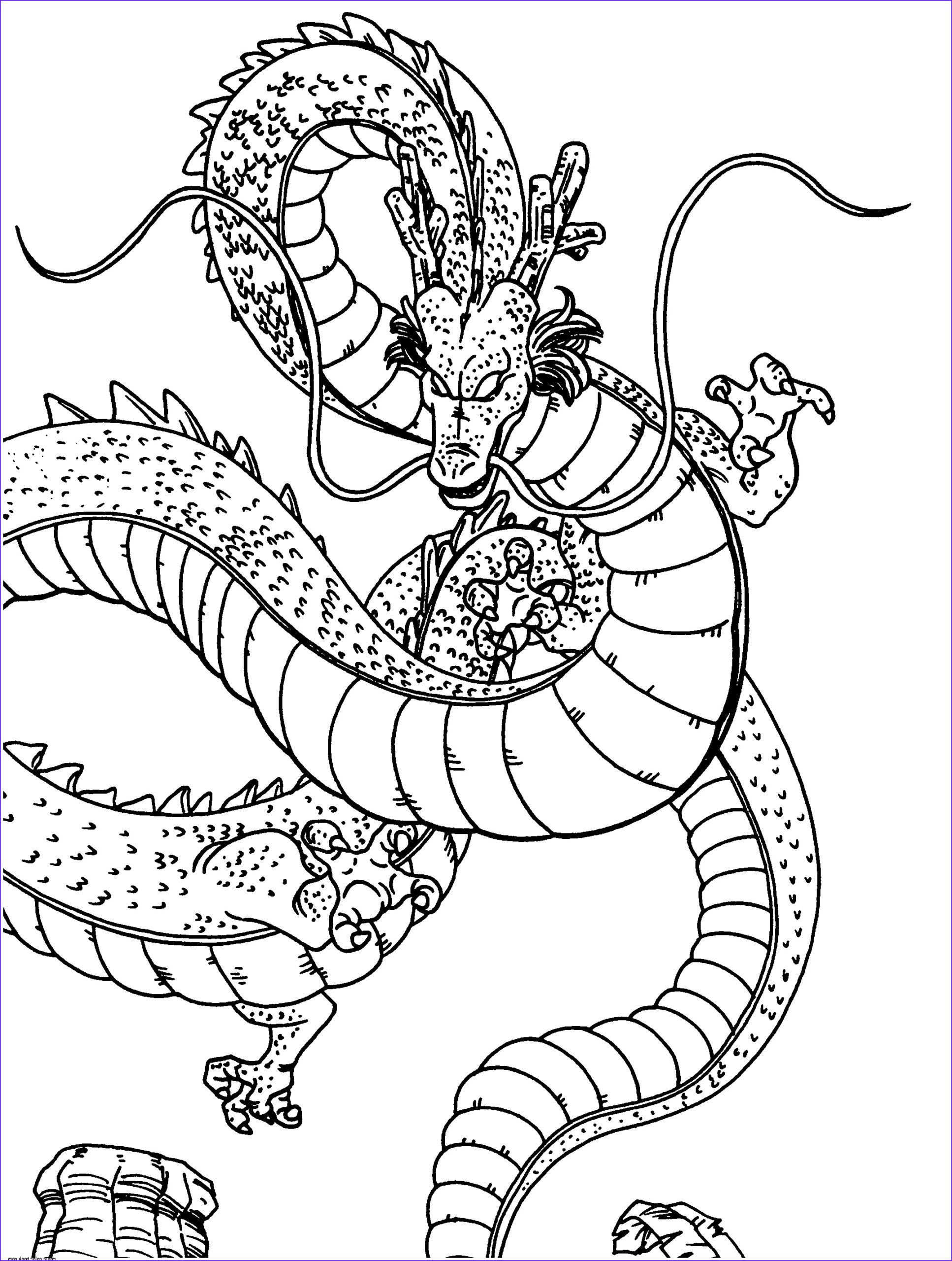 dragon ball z shenron coloring pages
