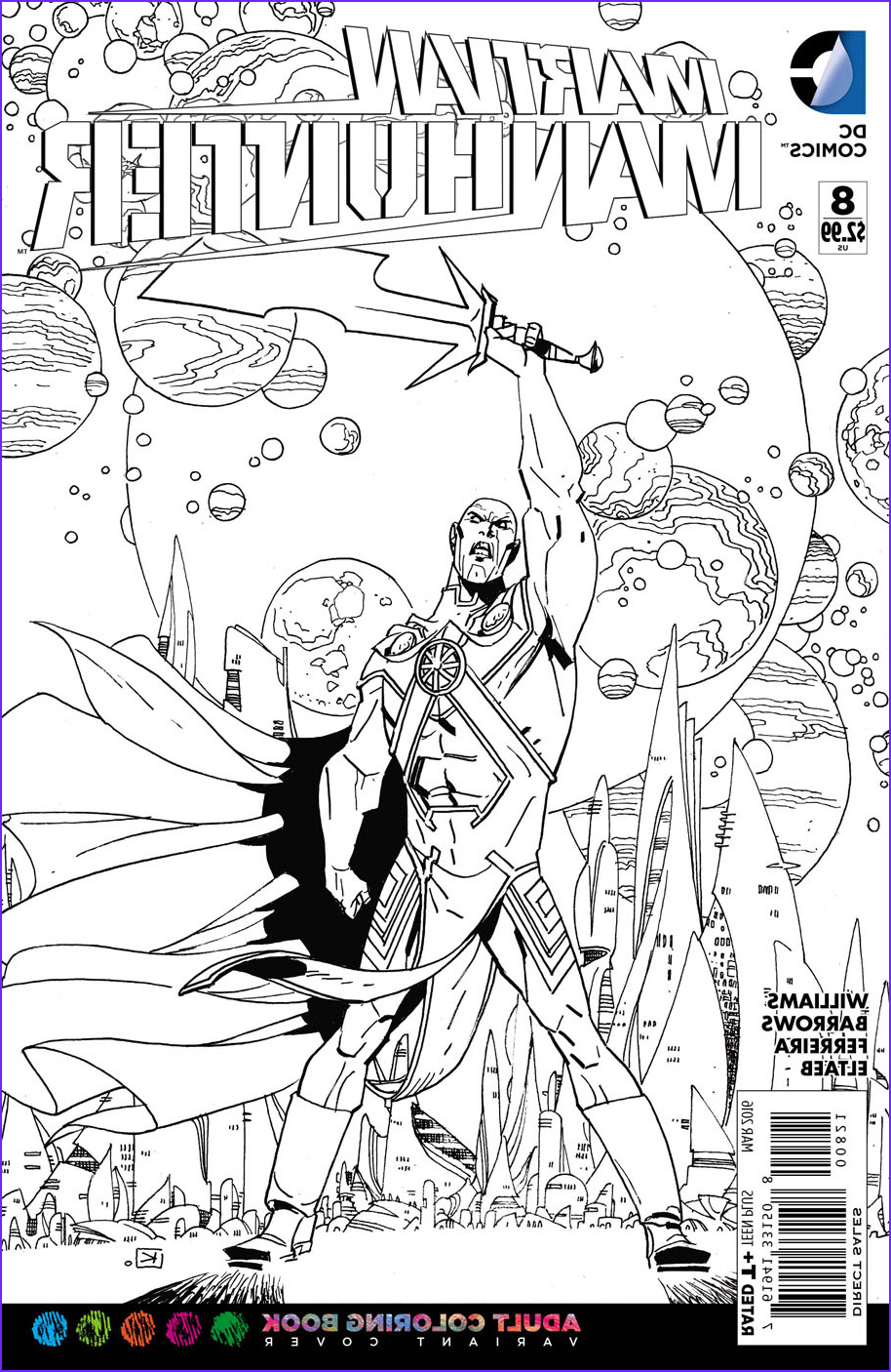 Dc Adult Coloring Book Cool Images Previewsworld Martian Manhunter 8 Adult Coloring Book