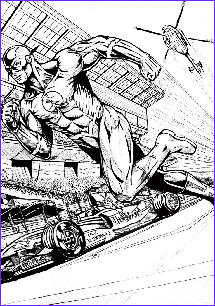 Dc Adult Coloring Book Luxury Images the Flash Superhero Coloring Pages