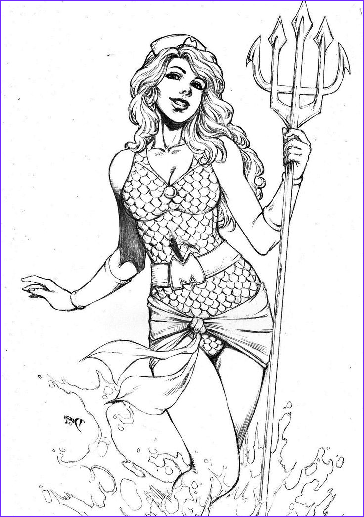 Dc Adult Coloring Book New Photos Bombshell Mera by Deilson Tattoo Ideas