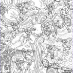 Dc Comics Coloring Book Luxury Collection Image Starfire Vol 2 8 Adult Coloring Book Variant