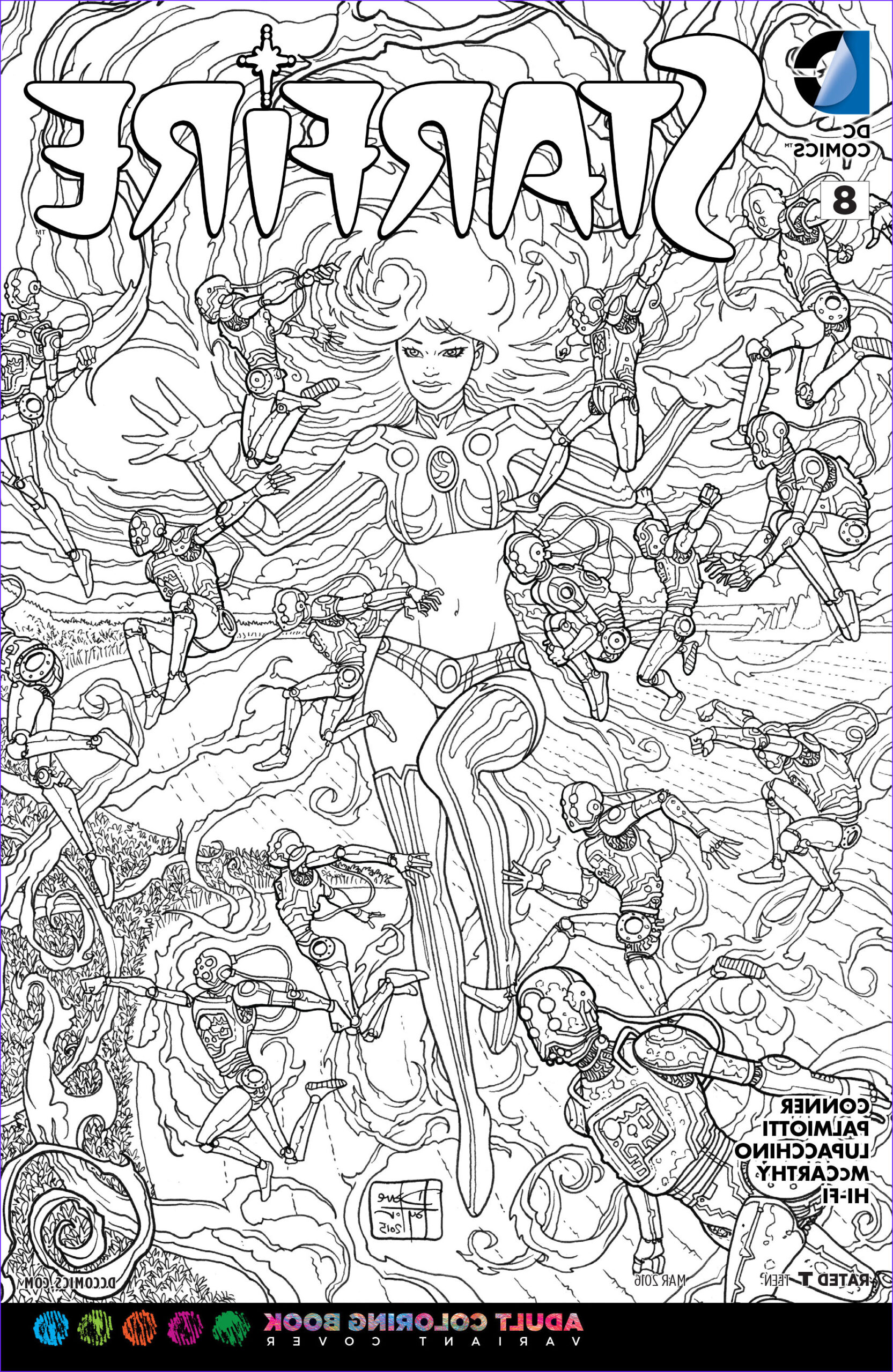 File Starfire Vol 2 8 Adult Coloring Book Variant