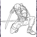 Deadpool Coloring New Collection Dead Pool Free Coloring Pages