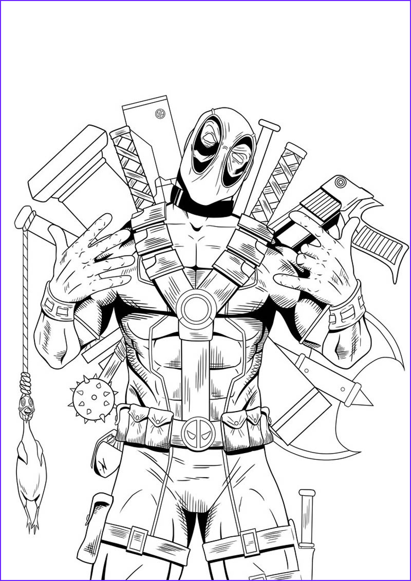 deadpool coloring pages for boys